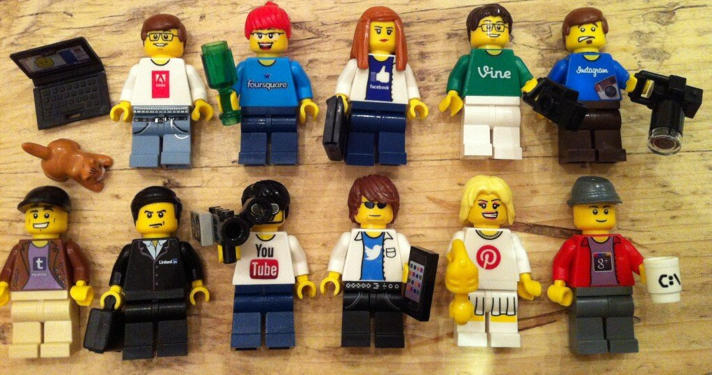 I need social media Lego Minifigs for scientific reasons