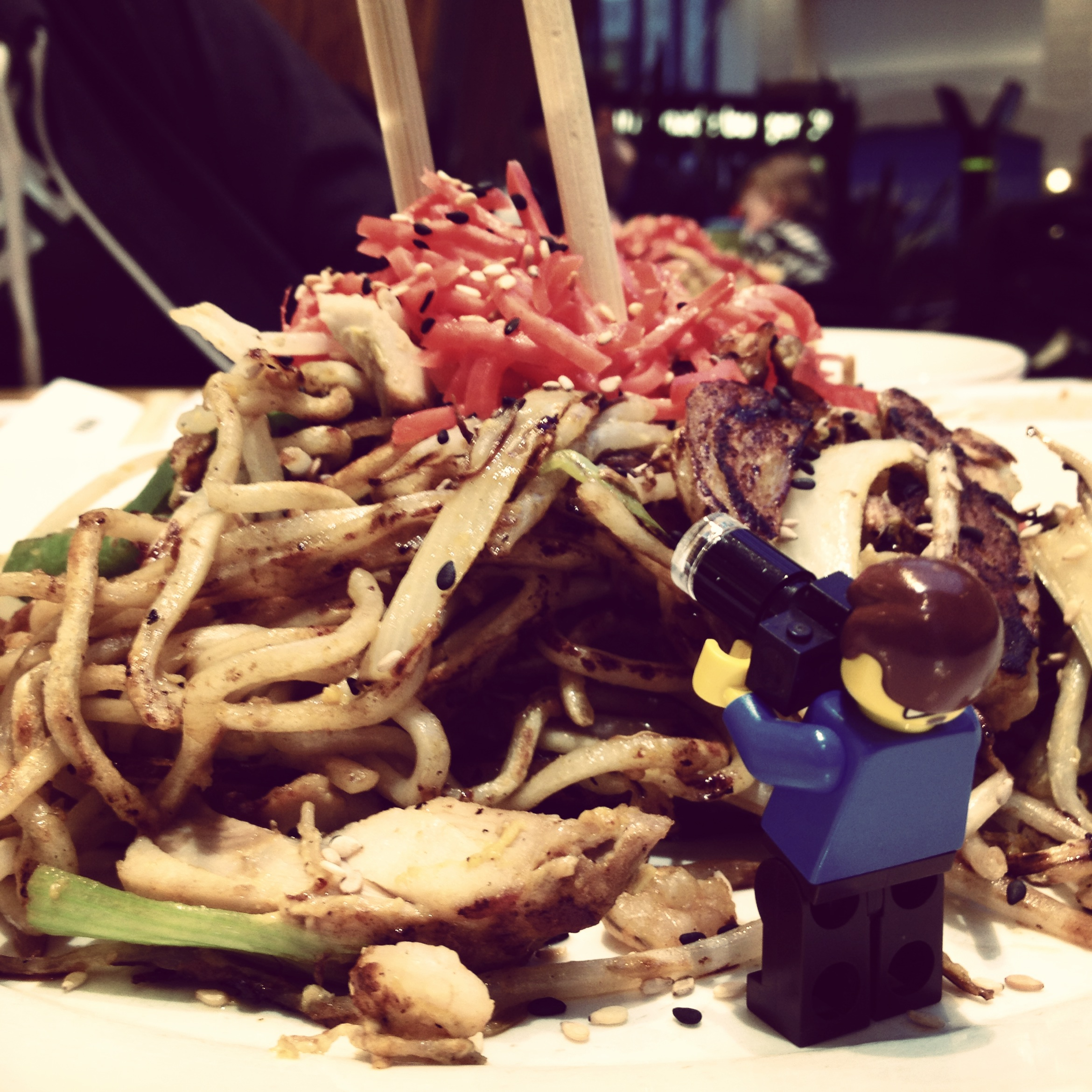 Lawrence faces noodle mountain